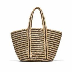Handwoven Jute Bags Women Bag Handbag Jute Shopping Bag
