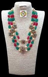 CL Tumble Natural Stone Antique Beads Jaipur Imitation Jewellery Necklace Set