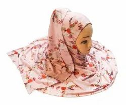 Women's Jersey Stretchable Material Printed Scarf Hijab Dupatta