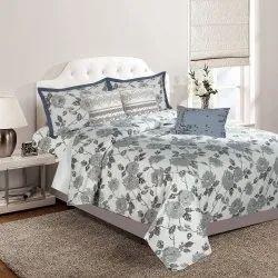 Pixelate  Grey Bed Sheet Bedding King