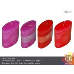 3x3 Oval Textured Pillar Candles