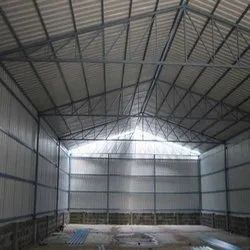Steel Frame Structures Concrete Godown Construction