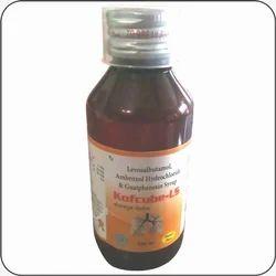 Kofcube-LS Levosalbutamol Sulphate Ambroxol and Guaiphensin LS Syrup, 100 ml