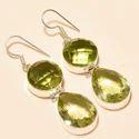 Silver Plated Gemstone Dangle Drop Earrings for Women