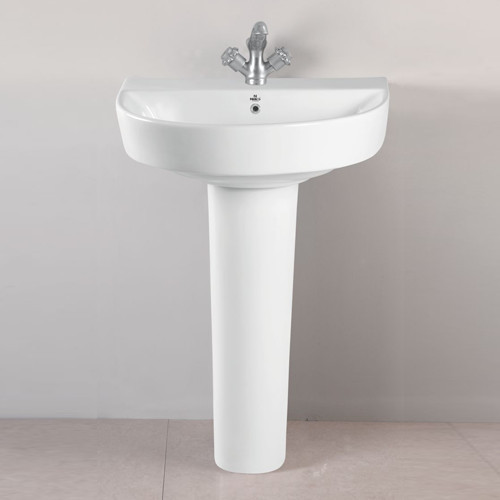 Ceramic White Toilet Wash Basin Pedestal Rs 1300 Piece