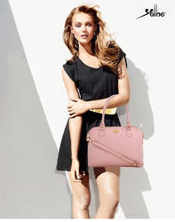 Pink Leather Handbag