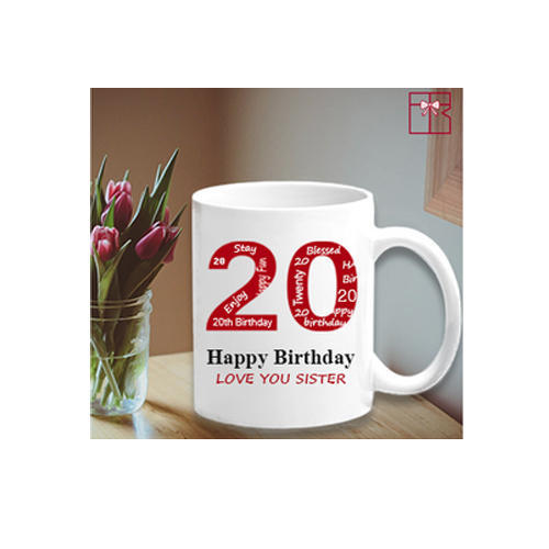 Ceramic Printed White Mug 11oz for Office