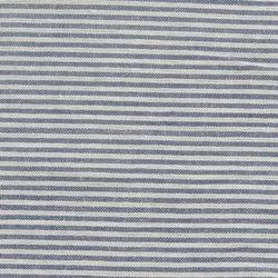 Seersucker Stripe Cotton Fabric in Grey and White