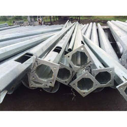 Octagonal Galvanized Pole
