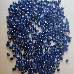 Round Polished Blue Sapphire Gemstone