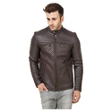 Medium And Large Leather Mens Trendy Jacket
