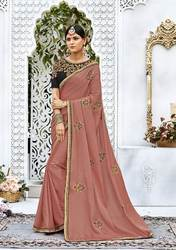 PR Fashion New Dusty Pink Colored Designer Saree