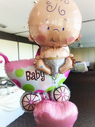 baby shower balloons baby bump props