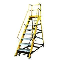 Fiberglass Mobile Maintenance Platform Ladder