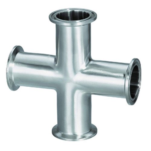 NASCENT Silver, Gray Stainless Steel Cross Fitting 310, Size: 3, for Gas Pipe