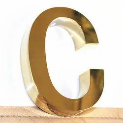 Golden SS Steel Channel Acrylic Letter