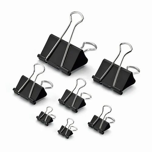 Stainless Steel Binder Clips, Size: 1/4