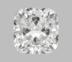 3.02 Ct Gia Certified Cushion Cut Natural Diamond D VS1  EX EX VST
