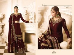 Geeta Fashion Heavy Faux Georgette Designer Dress Materials, Size: 30 Inch Front