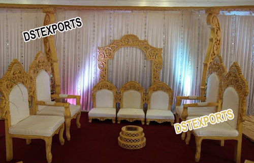 Indian Wedding Furniture Wedding Mandap Wooden Carved