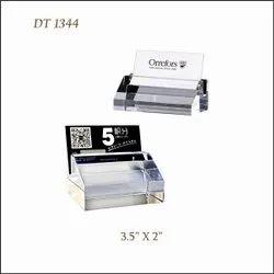 White Plain Crystal Card Holder DT 1344, For Promotional Use