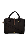 Yelloe Briefcase Look Slim Laptop Bag In Brown