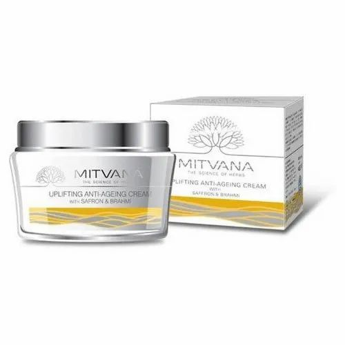 Mitvana Saffron and Brahmi Uplifting Ante Ageing Cream, Packaging Size: 50 Gm