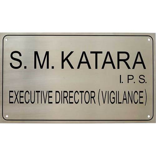 Name Plates Steel Name Plates Manufacturer From New Delhi