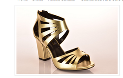 Glamorous And Chic Sandals In Soft Gold And Pewter Sandal