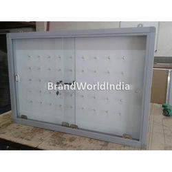 Key Holding Board With Sliding Glass