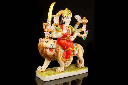 Marble Katyayani Mata Statue Manufacturer From Jaipur