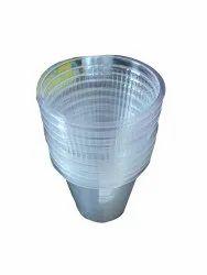 Transparent Plain 100 ml Disposable Plastic Glass