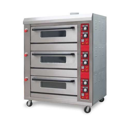 Three Deck Oven, Capacity: 3deck 12 Tray, for Breads