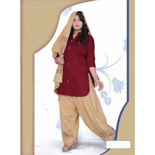 Cotton Designer Punjabi Patiala Suit