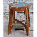 Bar Stool in Distressed Paint Finish for Designer Cafe Furniture