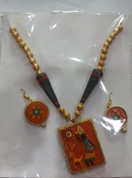 Terracotta Necklace Set Jewellery