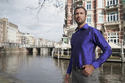 Royal Blue Men's Silk Shirt
