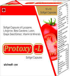 Softgel Capsules of Lycopene L-Arginine Beta Carotene Lutein Grape Seed Extract Vitamin and Minerals