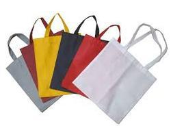 White & Red Plain,Printed Non Woven Bag, Bag Size: 8 X 10 - 18 X 20 Inch