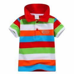Multi Horizontal Stripes Half Sleeves Polo T-Shirt