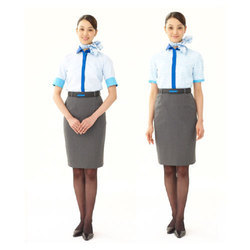 Nylon Air Hostess Uniform, Size: M And L