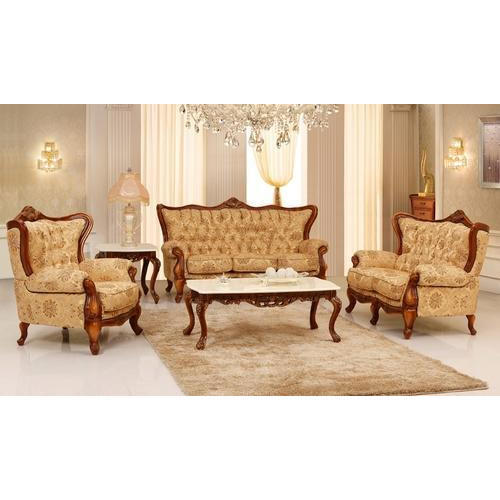 Victorian Style Wooden Sofa Set