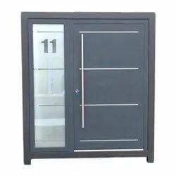 Polished Office Aluminium Entrance Door