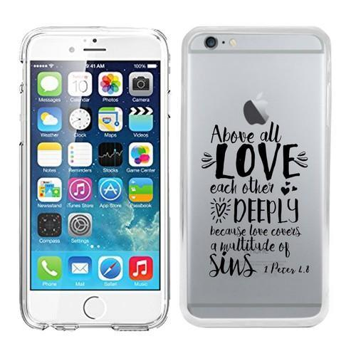 sale retailer 8d5c4 9d7a4 Clear Transparent Case For Iphone 6 Plus / 6s Plus Printed With Embossed  Effect