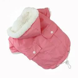 Cotton Pet Jacket With Hoodie