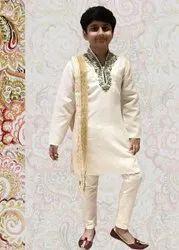 Kids White Indian Kurta Pyjama