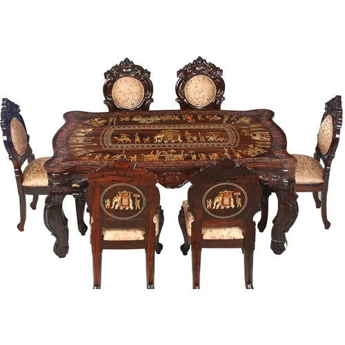6 Seater Rosewood Dining Table Set