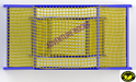 PP Rope Twin Climbing Net Commando Net Yellow Color