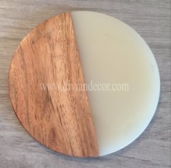 Resin and Wood Tea Coaster