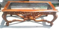 Sheesham Rectangular Designer Wooden Center Table, For Home